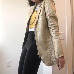 Giorgio Brato Gold Leather Jacket